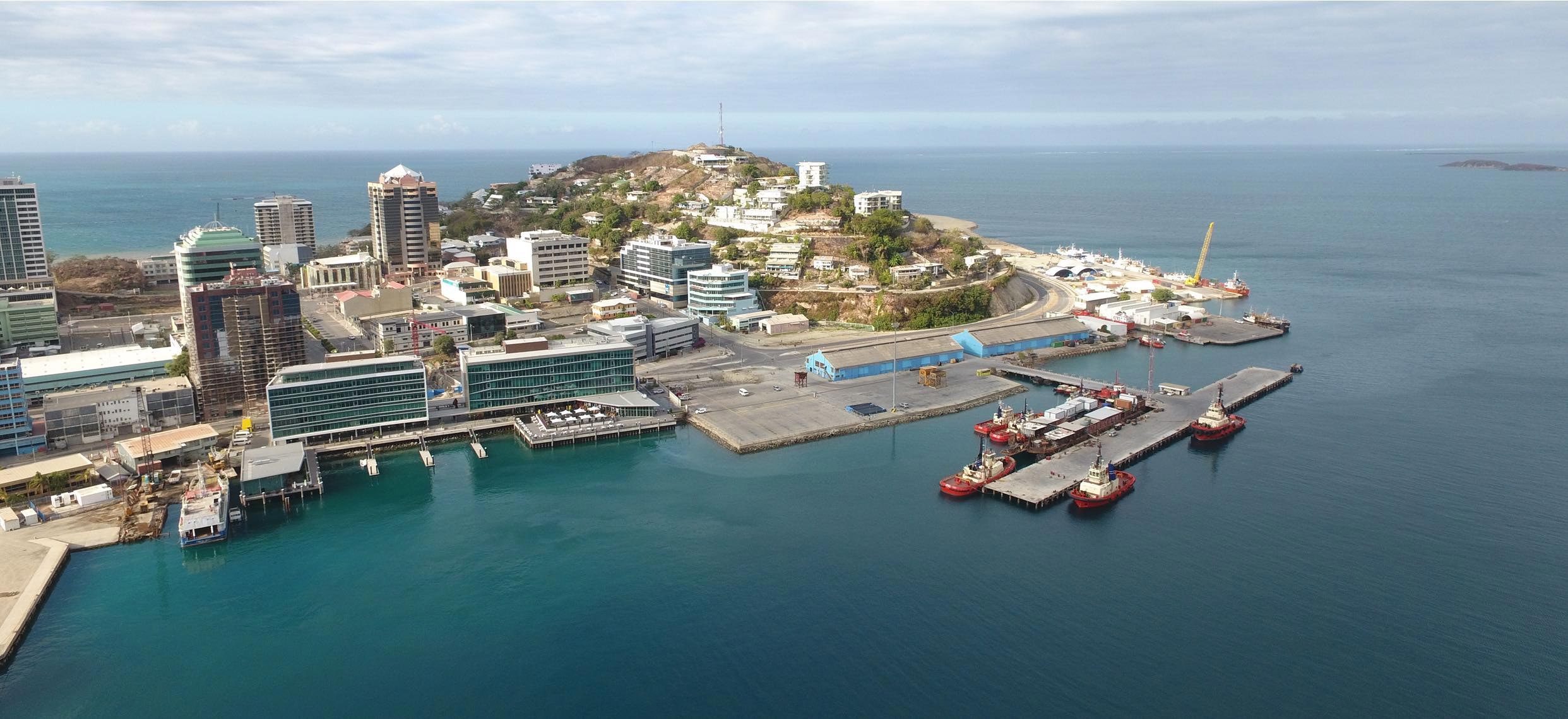 Aerial view of POM Port Precinct